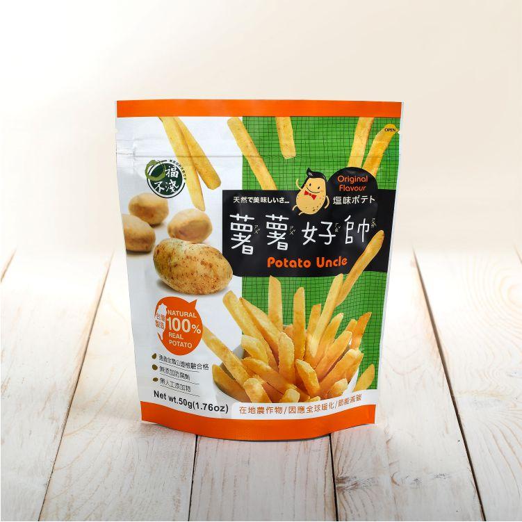 薯薯好帥-綠底網